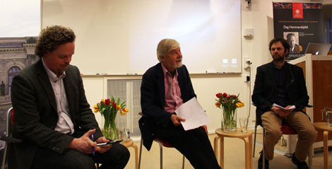 In the photo: Erik Melander, Peter Wallensteen and Håvard Hegre